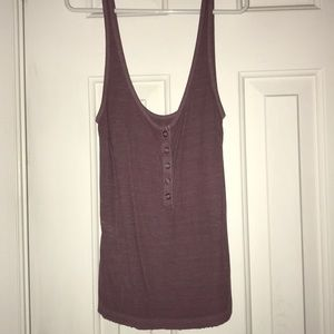 American Eagle plum colored ribbed tank
